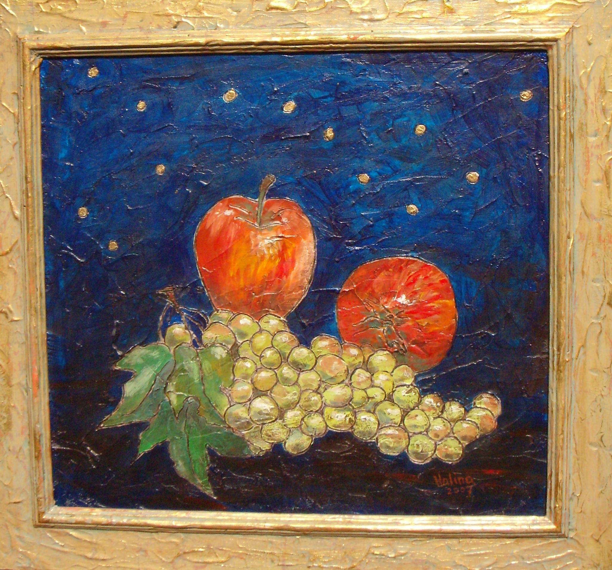 Grapes & Apples - Framed.JPG