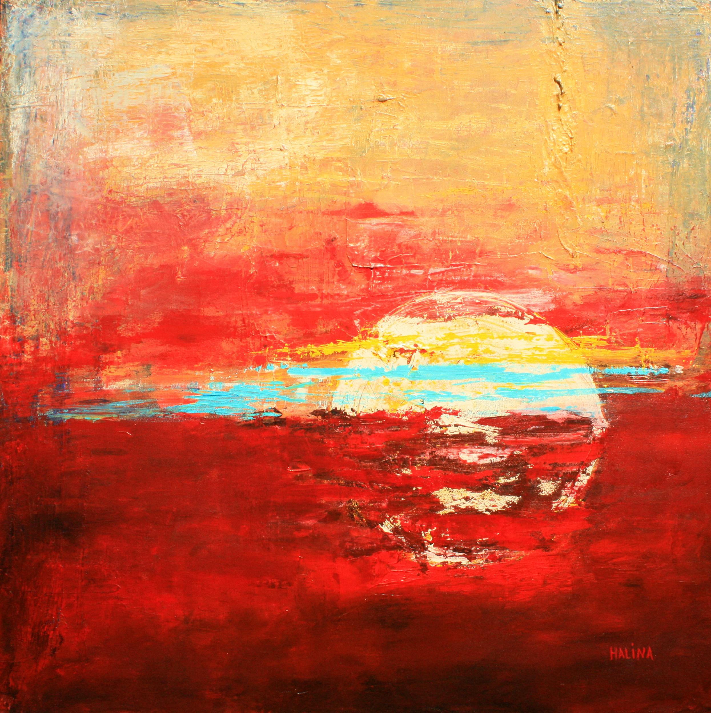 Sun Set - Sun Rise    76 X 76 cm