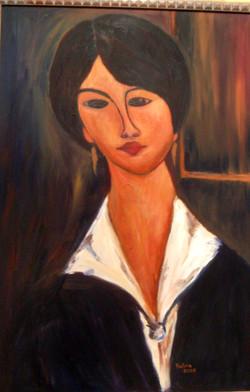 Madigliani - Oil on canvas.JPG