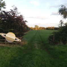 Saturn beside the Top Field gate