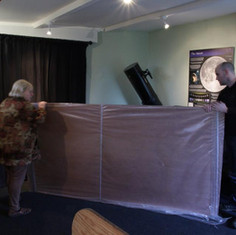 Plywood being delivered