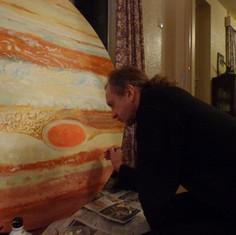 Jeremy finishing off Jupiter