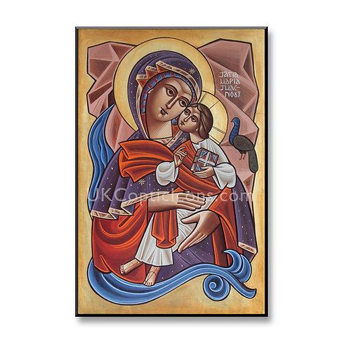 Theotokos with Peacock