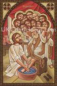 Christ washes the feet of the disciples