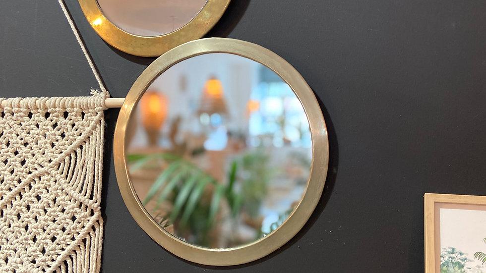 Trio de miroirs laiton Maroc