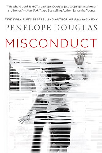 Book Cover of Age Gap Erotic Romance Book Misconduct by Penelope Douglas