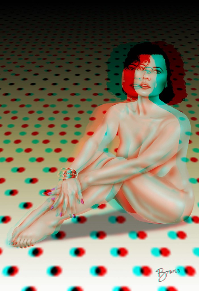 Erotic 3 D Picture of a Woman sitting on the floor. Representing classy Erotic Art and Poems