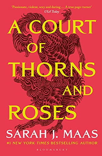 A Court of Thorns and Roses Book Cover by Sarah J. Maas