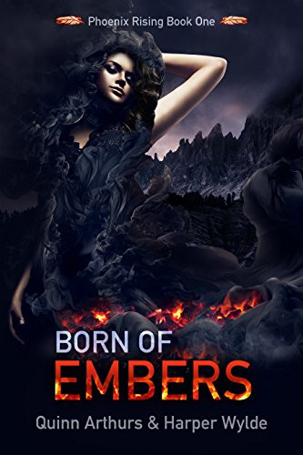 Book Cover Reverse Harem Book Born of Embers in the Paranormal Erotic Romance Niche