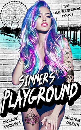 Book Cover of Sinners Playground a Reverse Harem Erotic Book about hate, revenge with a lot of suspense and action
