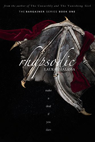 Younger Woman Older Man Fantasy Romance Novel Book Cover Rhapsodic by Laura Thalassa