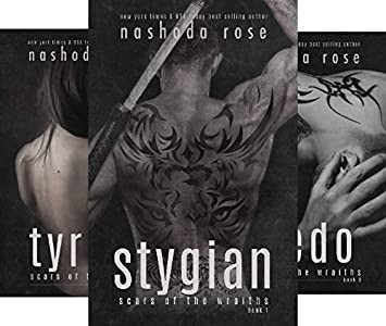 Book Covers of the Scars of the Wraith Series. Dark Erotic Romance Novel Series by Nashoda Rose