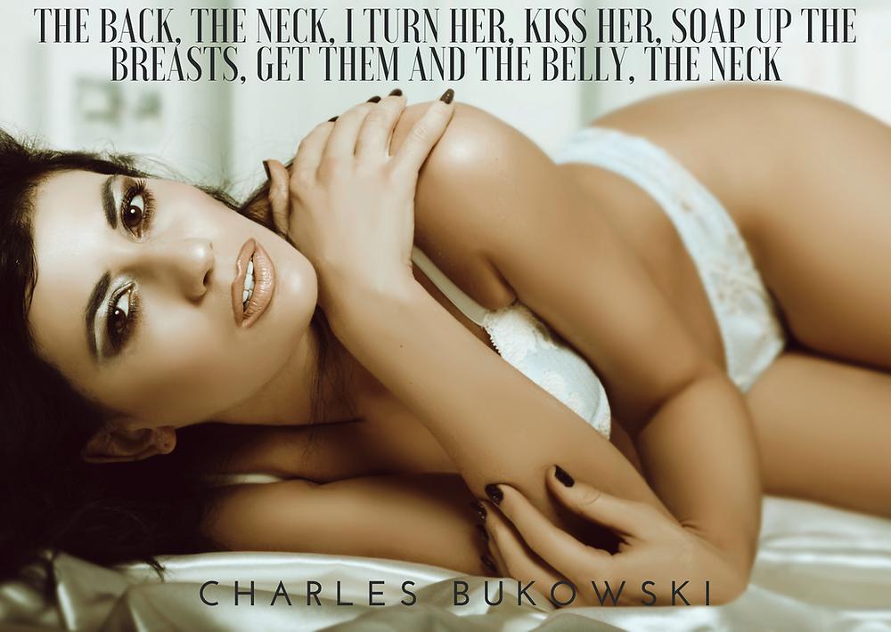 Erotic Woman looking into the camera symbolizing the Erotic Poem of Charles Bukowski