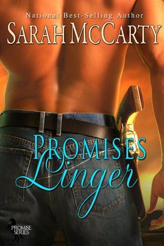 Erotic Historical Romance Novel Book Cover. Author Sarah McCarthy. Title Promises Linger. Steamy Historical Western Novel