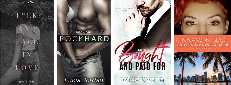 Book Covers of different Erotic Short Stories