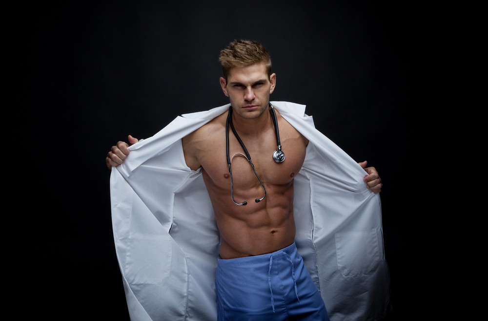 Picture of a young sexy doctor. Symbol for Erotic Doctor Stories