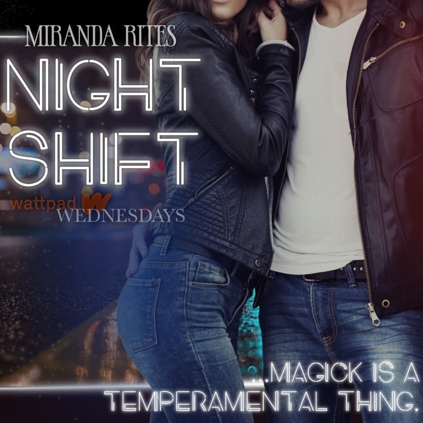 Picture showing Miranda Rites with a hot man from the Dark Paranormal Romance Story Night Shift