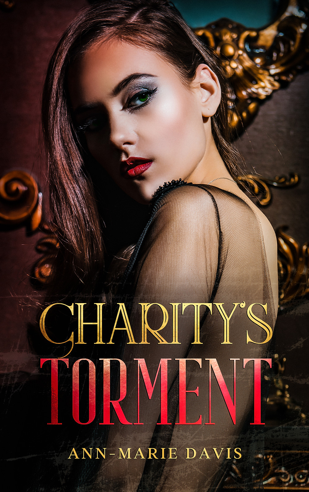 Cover of Dark Romance Mafia Reverse Harem Novel Charity's Torment by Ann-Marie Davis