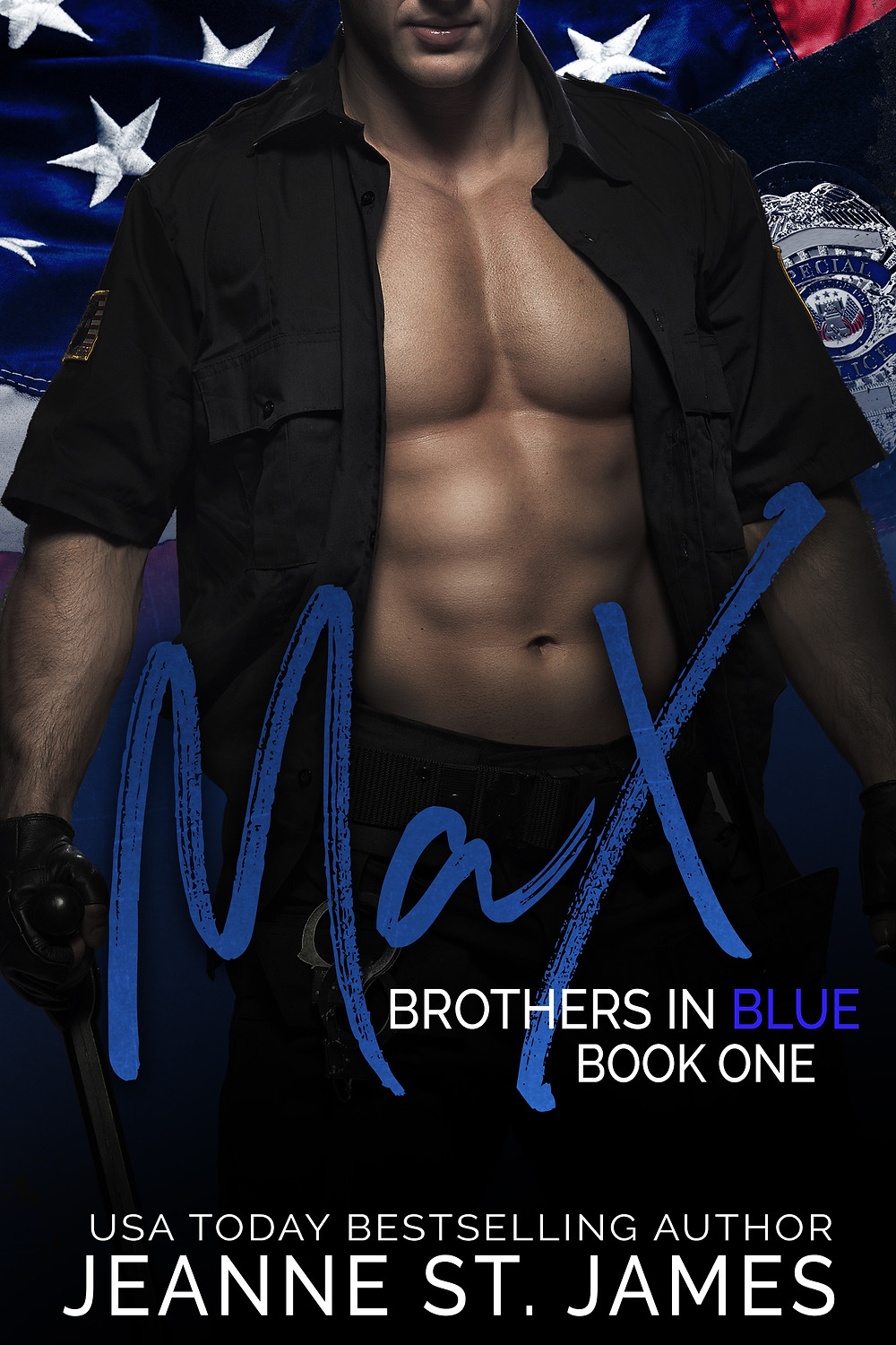 Book Cover Brothers in Blue by Jeanne St. James. Erotic Romance Novel