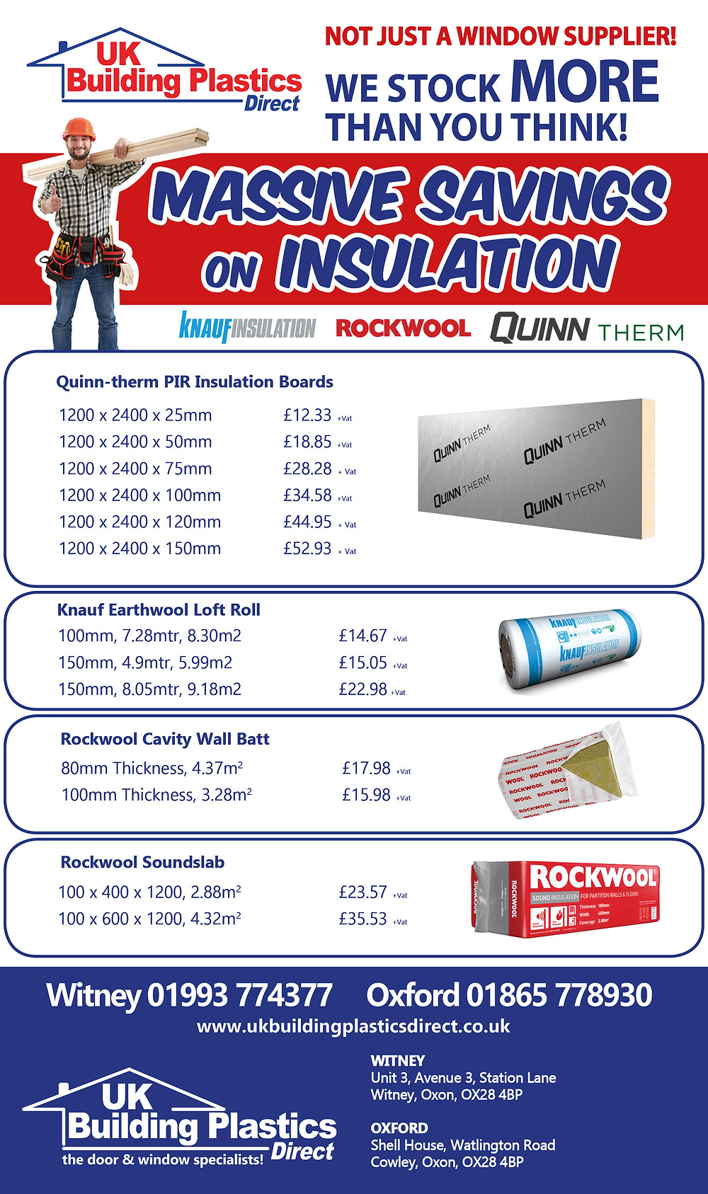 Massive Savings on Insulation - Witney & Oxford
