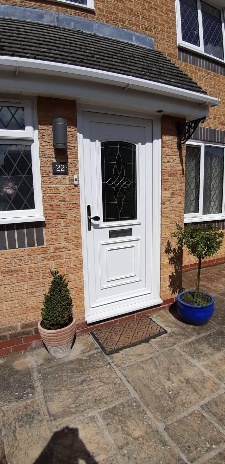 White UPVC Door Southmoor Oxfordshire