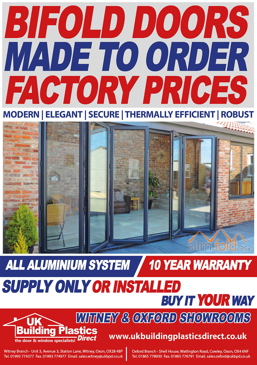 Bifold Doors - Witney - Oxford - UK Building Plastics Direct