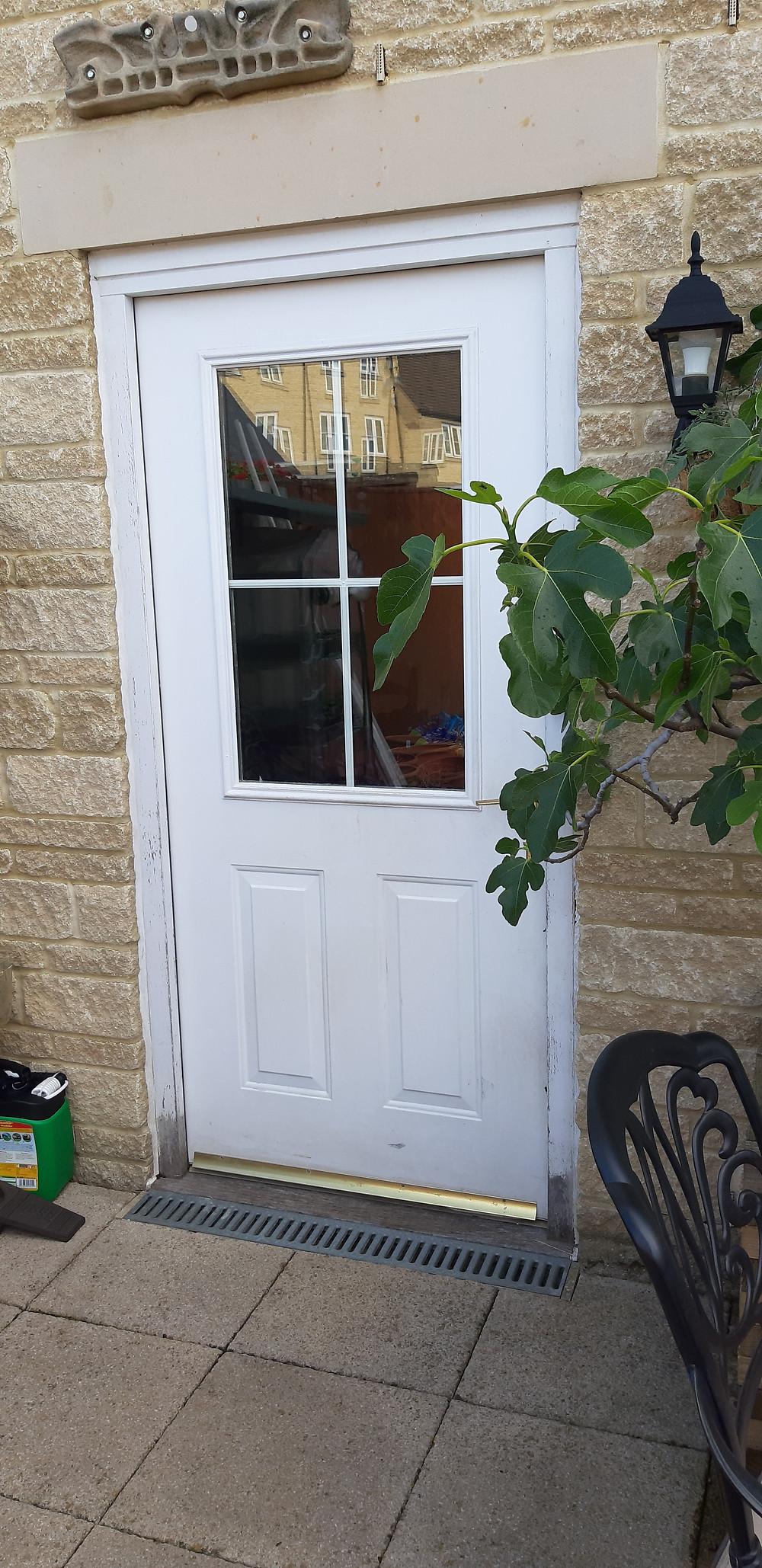 White UPVC Door Witney Oxfordshire