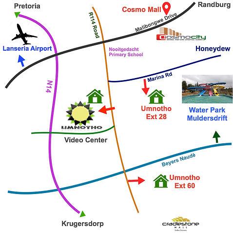 Umnotho Village Directions