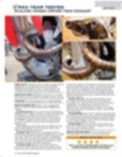 Scalvini Pipe for Honda CRF 450 MXA Magazine Test August 2014
