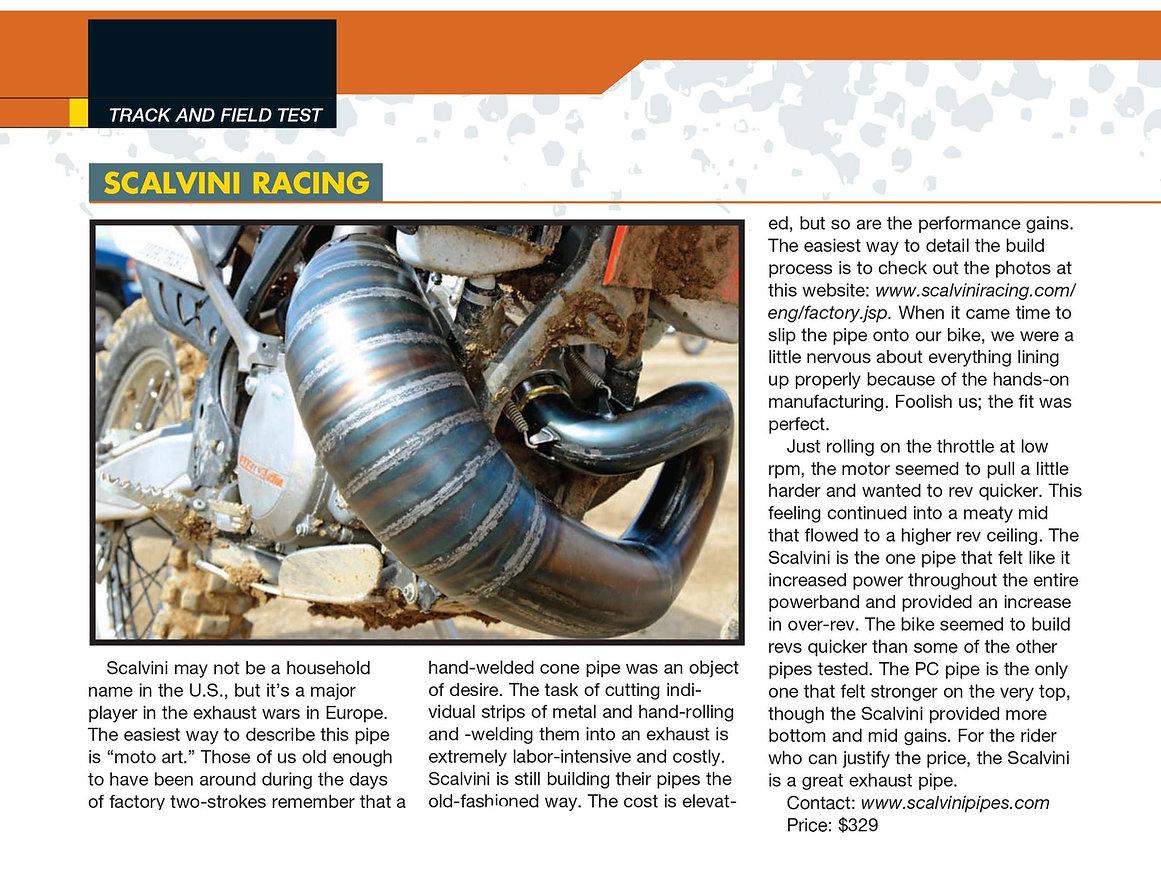 Scalvini Pipe for KTM 300 - Dirt Bike Magazine Test July 2014