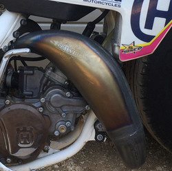 Scalvini Husky Stamped Pipes USA Husky Motorcycle Pipe