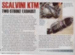 Scalvini Pipe for KTM 250 SX Dirt Bike Magazine Test February 2013