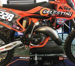 Scalvini Stamped Pipe USA KTM Motorcycle