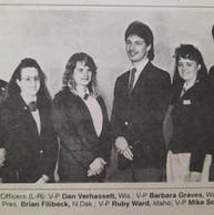 1990 - 1991 National Officer Team
