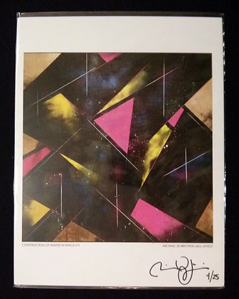 Construction of Shapes in Space n1 Print  #046