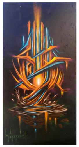 Live painting session during Street Glyphics event II  Art Institute Inland Empire  San Bernardino, CA