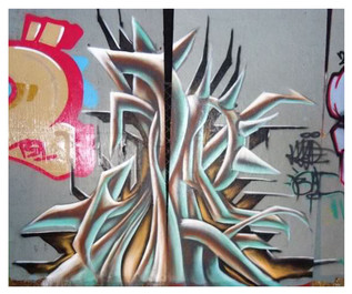 Live Painting session during event.  The Hub  Colton, Ca