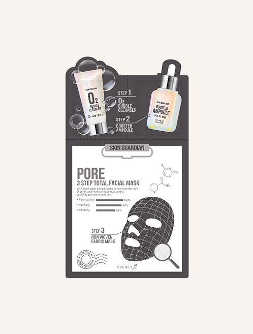 Pore 3step Total Facial Mask