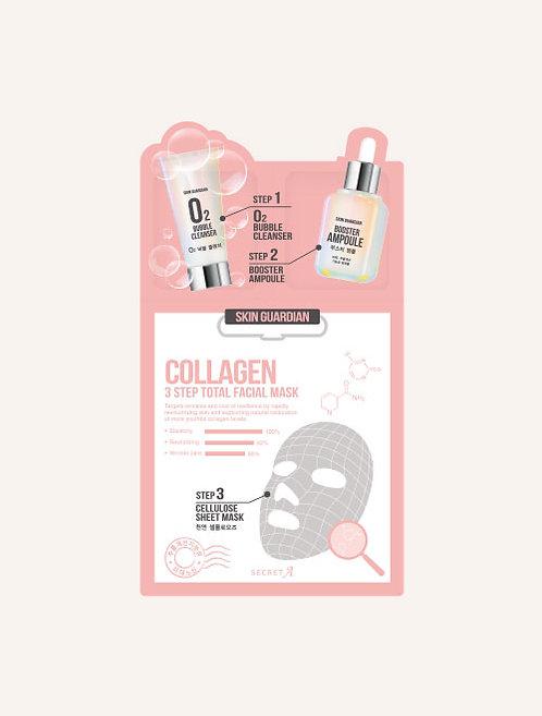 Collagen 3step Total Facial Mask