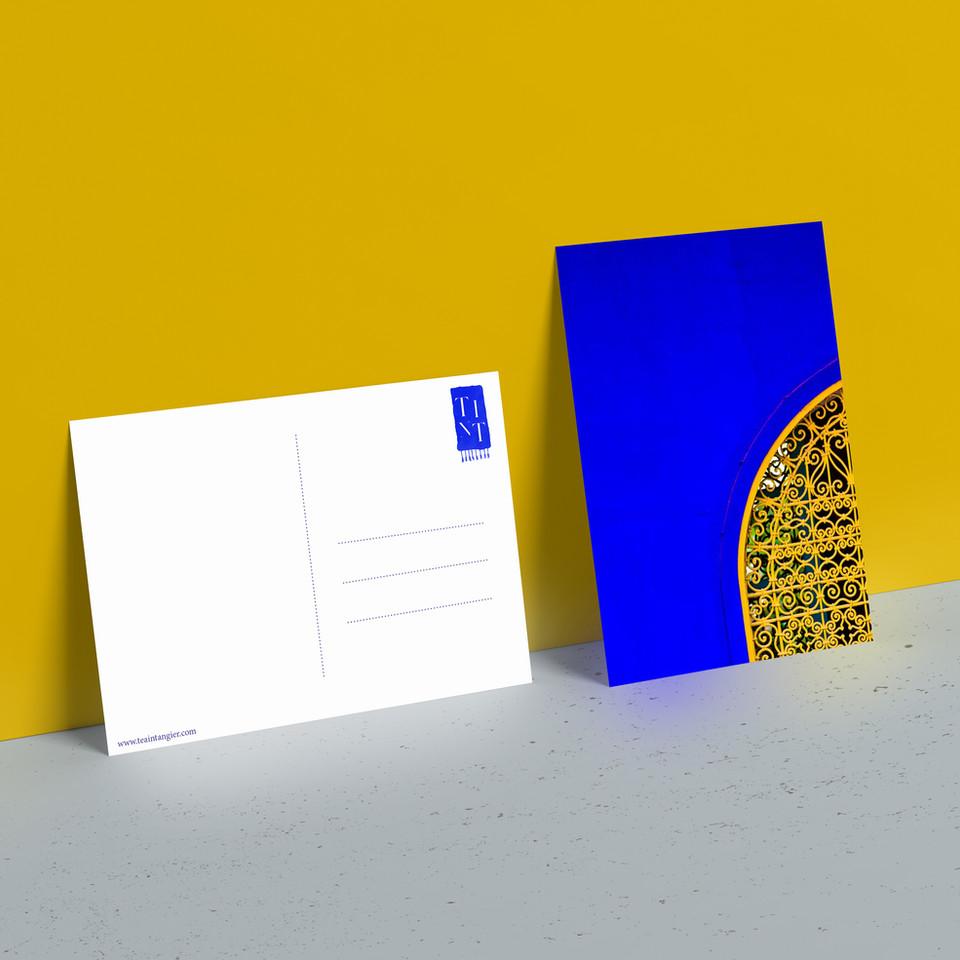 Complementary postcard design