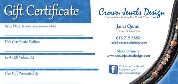 Gift Certificate - Jewelry Store