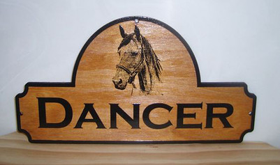 Horse Stall Sign