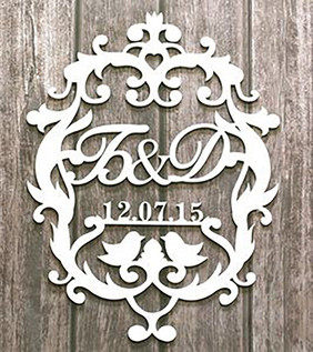 Wedding Monogram Sign