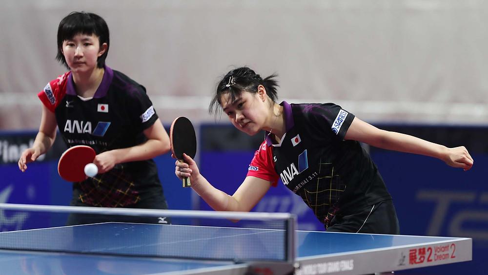 Hina Hayata (left) and Yui Hamamoto (right) the winners in Doha (Photo: QTTA)