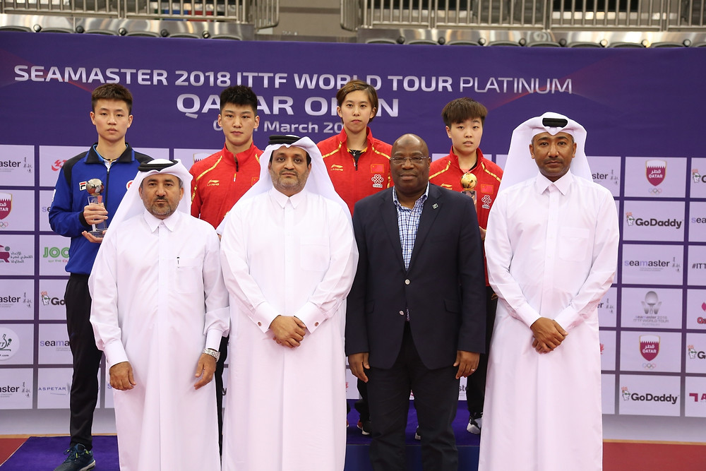 Medallist and dignitaries at the Under 21 events ceremony (Photo: Hussein Sayed)