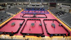 إنطلقت صباح اليوم على صالة علي بن حمد العطية منافسات التصفيات العالمية المؤهلة لأولمبياد #طوكيو