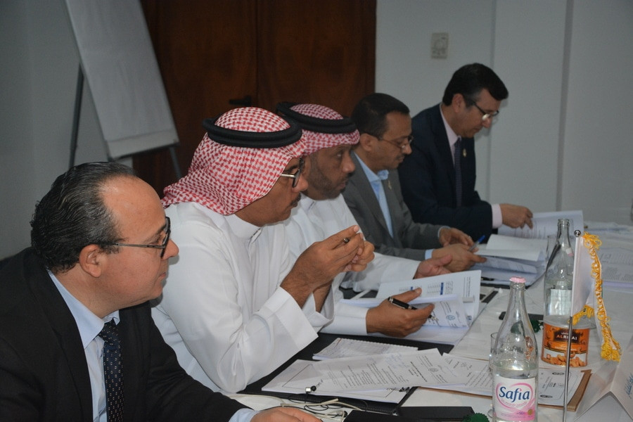 Khalil Bin Ahmed Al Mohannadi along with other members at the meeting. Photo By: Mr.Mohamed Elgazar