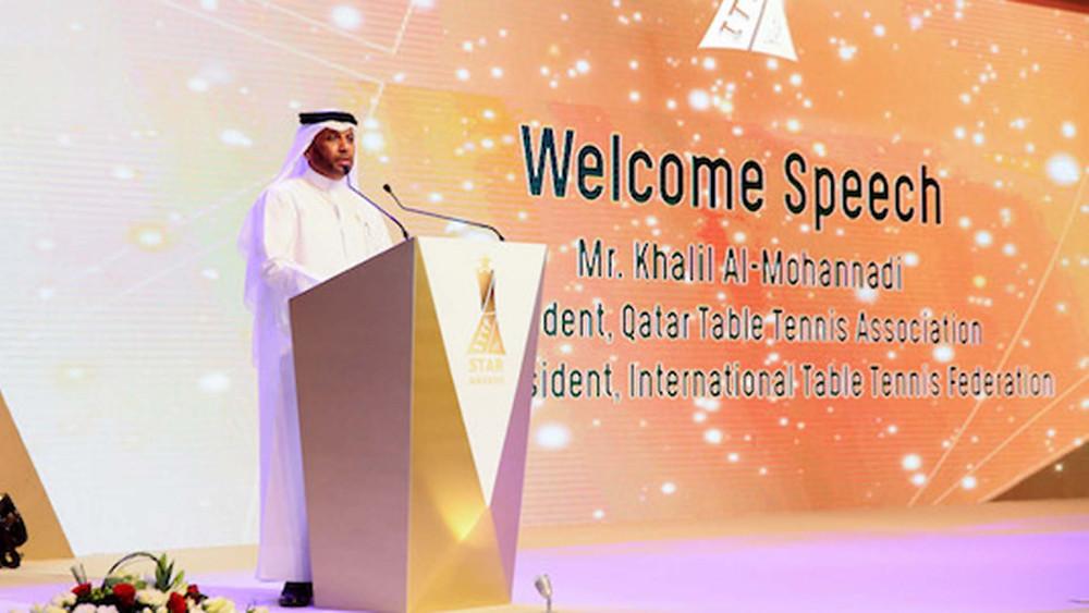 Khalil Al-Mohannadi at the Star Awards Evening (Photo: ITTF)