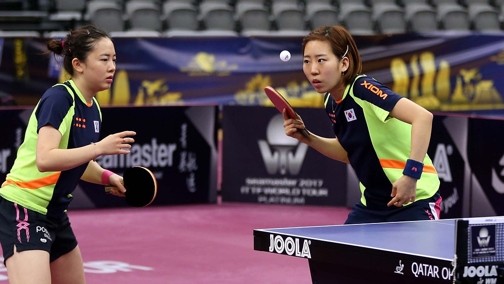 Jeon Jihee (left) and (right) Yang Haeun ended the hopes of Barbora Balazova and Hana Matelvoa (Photo: Hussein Sayed)
