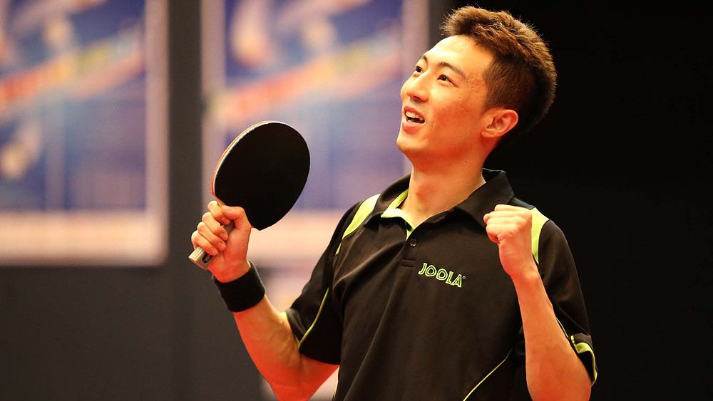 Li Ping celebrates Olympic Games qualification in Hong Kong; will he celebrate on home soil? (Photo: Ricky Leung, Donald Chin)